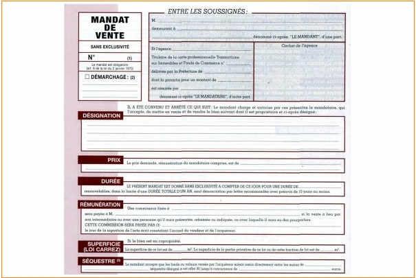 mandat_de_vente_immobilier_conditions