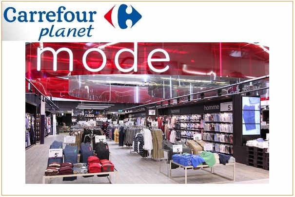 carrefour mise sur son concept textile dans 18 magasins. Black Bedroom Furniture Sets. Home Design Ideas