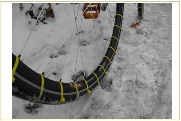 Fabriquer soi-même des pneus neige pour vélo