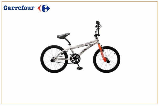 rappel de v los bmx topbike freestyle 20 des magasins carrefour. Black Bedroom Furniture Sets. Home Design Ideas