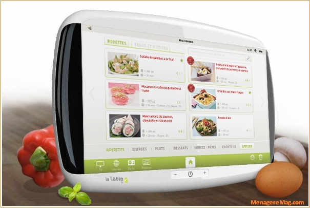 Lancement De La Tablette Tactile La Table Speciale Cuisine