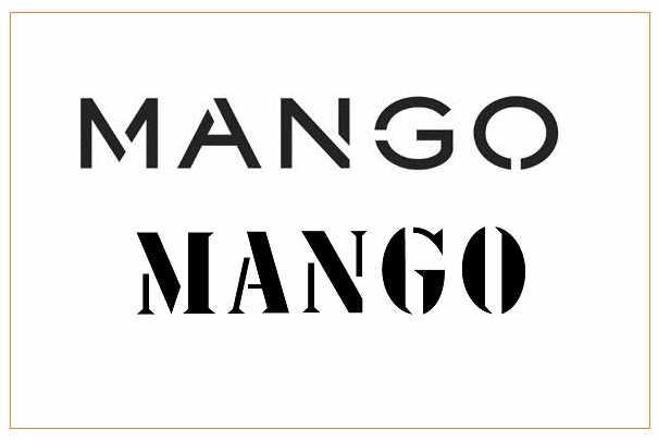 les magasins mango adoptent un nouveau logo. Black Bedroom Furniture Sets. Home Design Ideas