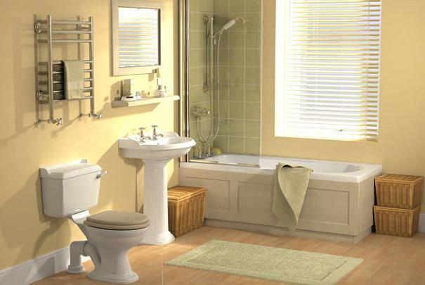 Disposer les éléments fixes dans la salle de bain