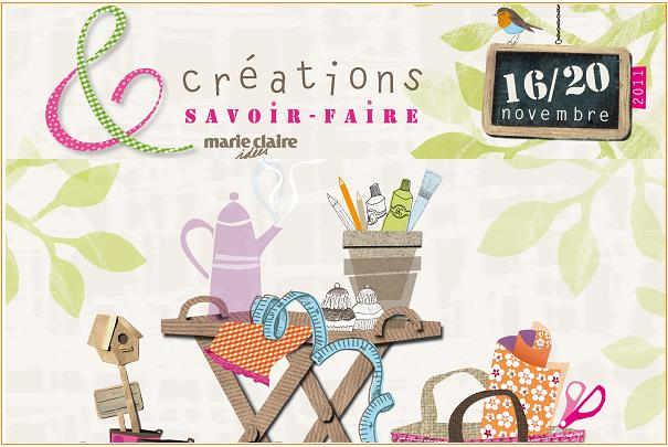Salon cr ations savoir faire du 16 au 20 novembre 2011 - Salon creations savoir faire invitation ...