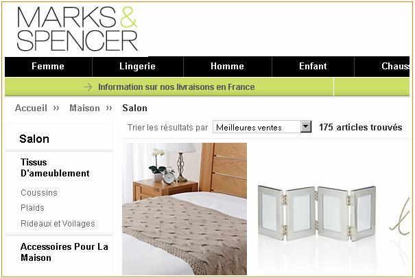 marks spencer lance ses ventes par correspondance sur internet. Black Bedroom Furniture Sets. Home Design Ideas
