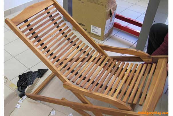 rappel de transats basculant en bois dacacia de marque edenko - Transat En Bois