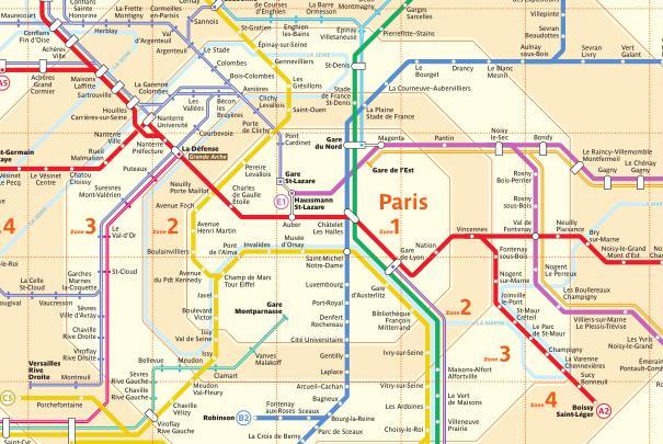 Lignes du réseau de trains Transilien