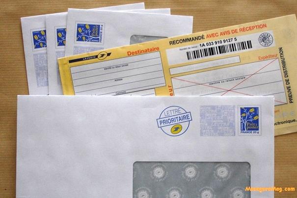 Tarifs de La Poste pour les affranchissements de lettres au 1er janvier 2014