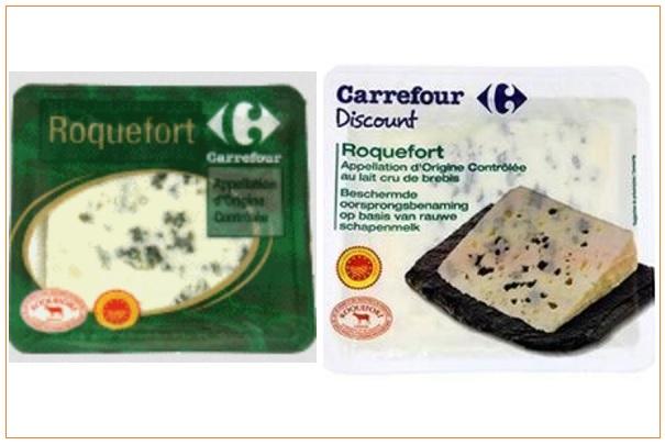 rappel de fromages roquefort de marque carrefour et carrefour discount. Black Bedroom Furniture Sets. Home Design Ideas