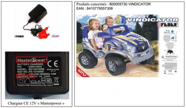 Rappel d'un QUAD VINDICATOR 12V
