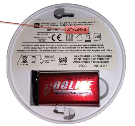 Rappel de détecteurs de fumée de la marque ELRO